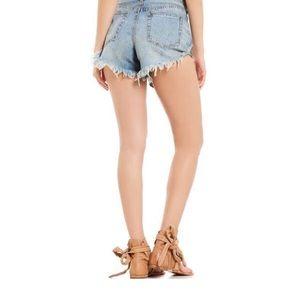 Free People Shorts - Free People Dayflower Blue Shorts Size 29